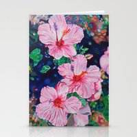 hibiscus Stationery Cards featuring Hibiscus by Morgan Ralston