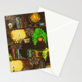 Fantasy Bookshelf Stationery Cards