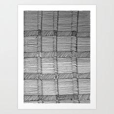 3D Lines Art Print