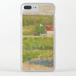 """Georges Seurat """"La Maison au toit rouge"""" Clear iPhone Case"""