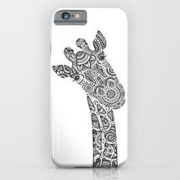 Giraffe in Monochrome iPhone Case