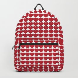 Red heart patterns. Hearty hearts Backpack