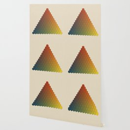 Lichtenberg-Mayer Colour Triangle vintage variation, Remake of Mayers original idea of 12 chambers Wallpaper
