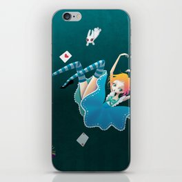 Down the rabbit hole iPhone Skin