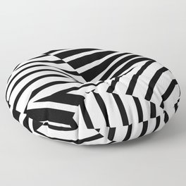 Abstract Striped Triangles Floor Pillow