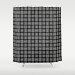 Small Gray Weave Shower Curtain