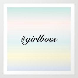 Girlboss Art Print