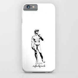 Michelangelo-David-Italian-Sculpture iPhone Case