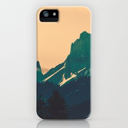 Cascade Mountains Sunset iPhone Case