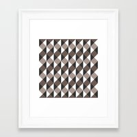 gray pattern Framed Art Prints featuring Pattern Gray by Sonia Marazia