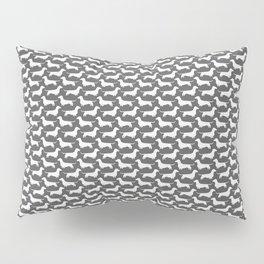 Dachshund Silhouette(s) Pillow Sham