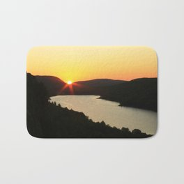Sunrise over Lake of the Clouds Bath Mat