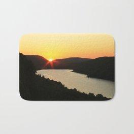 Sunrise over Lake of the Clouds Bath Mat