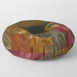 "Fra Angelico (Guido di Pietro) ""The Nativity"" Floor Pillow"