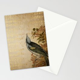 Vintage gold music #4 Stationery Cards