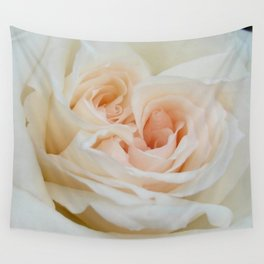 Close Up View Of A Beautiful White Rose Wall Tapestry
