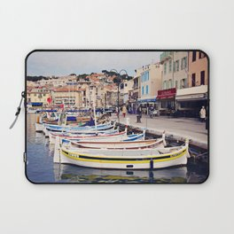 Boats in Cassis Harbor Laptop Sleeve