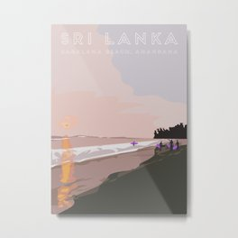 Ahangama, Sri Lanka Travel Poster Metal Print