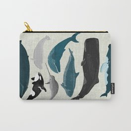 Whales and Porpoises sea life ocean animal nature animals marine biologist Andrea Lauren Carry-All Pouch