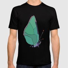 Butterfly Mens Fitted Tee MEDIUM Black
