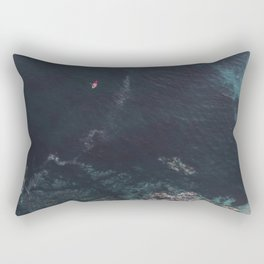 Red Canoe Rectangular Pillow