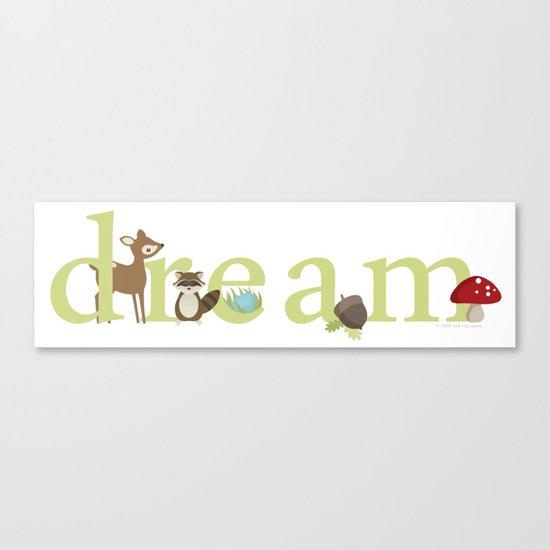 Woodland Dreams - Green Canvas Print