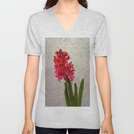 Red hyacinth Unisex V-Neck