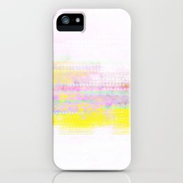 sunrise in yellow and pink iPhone Case