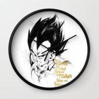 dragonball Wall Clocks featuring Dragonball Z - Pride by Straife01
