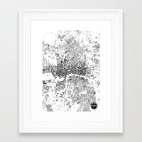 london map Framed Art Prints featuring LONDON MAP by Maps Factory