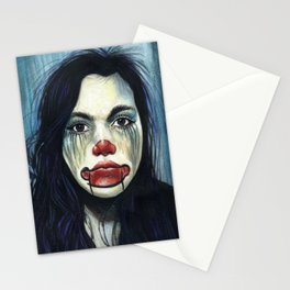 Portrait - Clowning Around Girl Stationery Cards