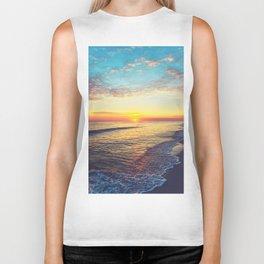 Summer Sunset Ocean Beach - Nature Photography Biker Tank