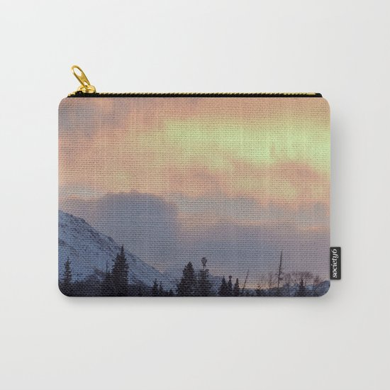 Serenity Rose Mt Sunrise Carry-All Pouch