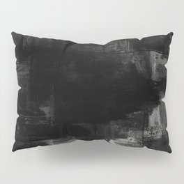 Pointless - Black and white abstract textured painting Pillow Sham