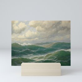 Vintage Ocean Oil Painting by Max Jensen Mini Art Print