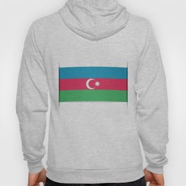 Flag of Azerbaijan. The slit in the paper with shadows.  Hoody