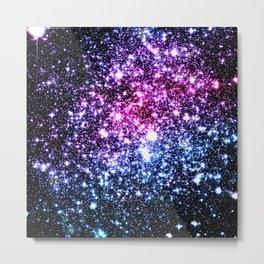 Cool Tone Galaxy Stars Metal Print