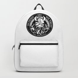 In Odin we trust - The king of Valhalla Backpack
