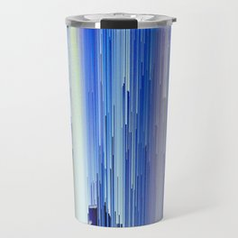 Frozen blue waterfall abstract digital painting Travel Mug