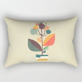 Potted plant with a bird Rectangular Pillow