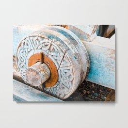 Celtic Trebuchet Wheel Metal Print