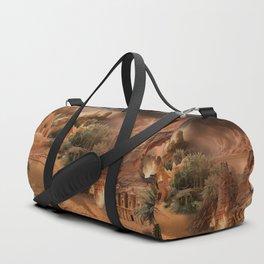 Desert paradise on the edge of Hell - Sandstorm Duffle Bag