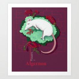 Flowers for Algernon Art Print