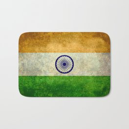 Flag of India - Retro Style Vintage version Bath Mat