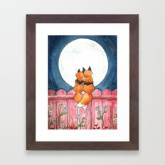 Fox Sweethearts Framed Art Print