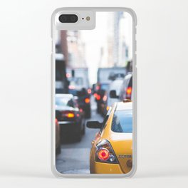 TAXI - CAB - CITY - CARS - PHOTOGRAPHY Clear iPhone Case