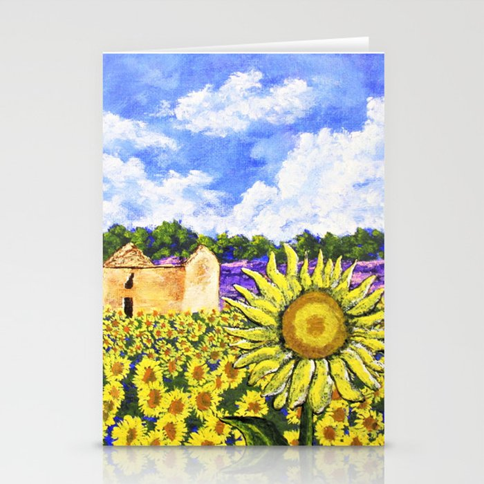 Sunflowers In Provence France Stationery Cards
