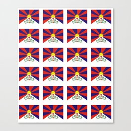 flag of thibet,བོད,tibetan,asia,china,Autonomous Region,everest,himalaya,buddhism,dalai lama Canvas Print