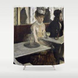 The Absinthe Drinker by Edgar Degas Shower Curtain