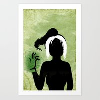 rogue Art Prints featuring Rogue by Sprite